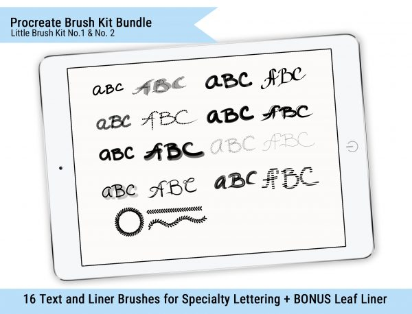 iPad Lettering Bundle