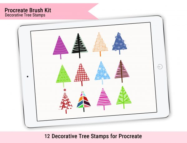 Decorative Tree Stamps