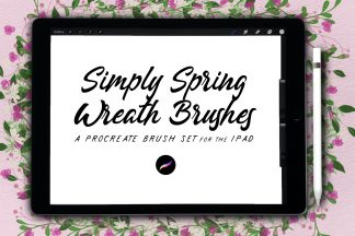 Simply Spring Wreath Brushes