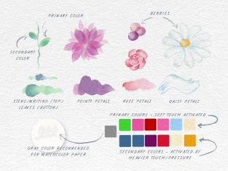 Flowers Watercolor Set (2-Tone!)